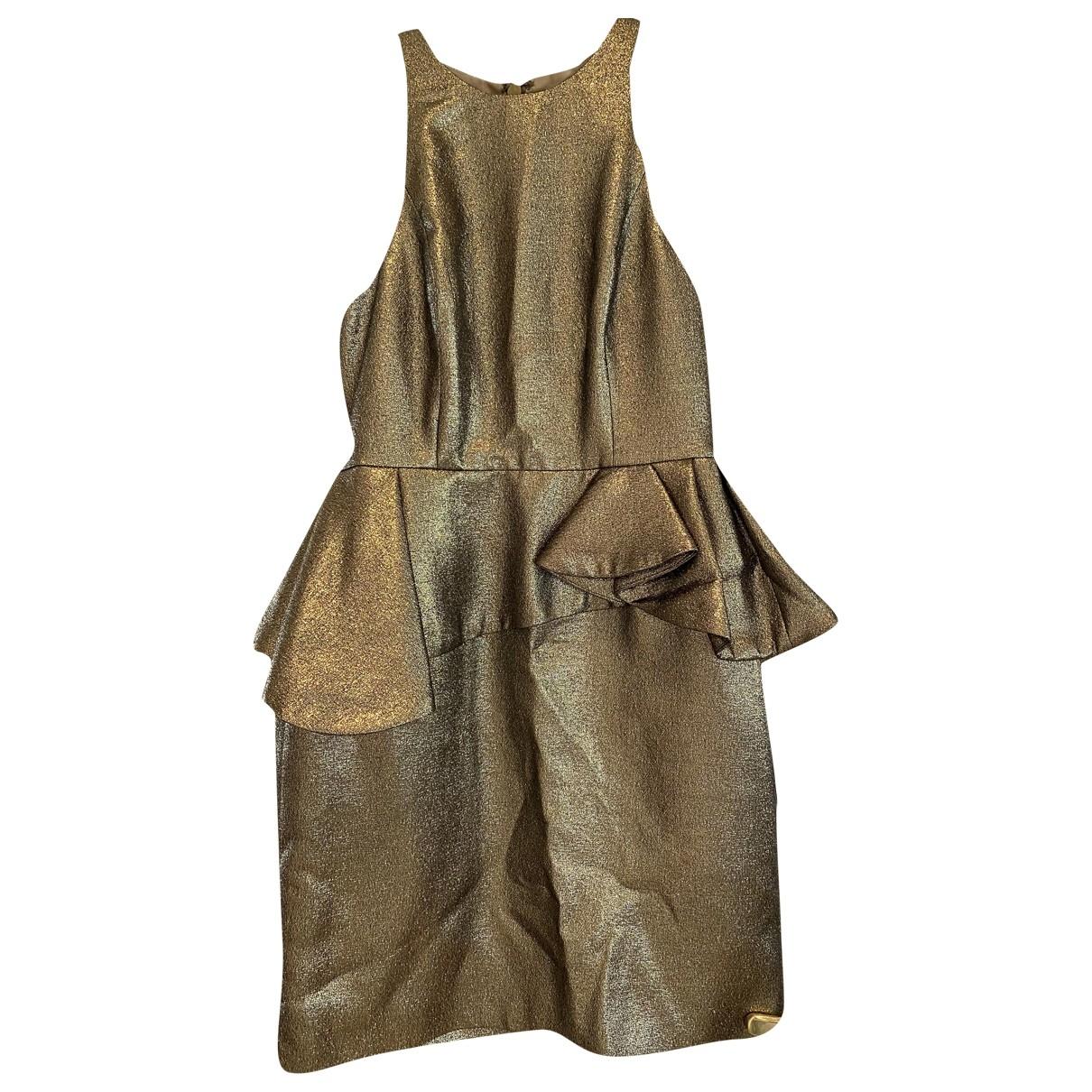 Halston Heritage \N Kleid in  Gold Baumwolle
