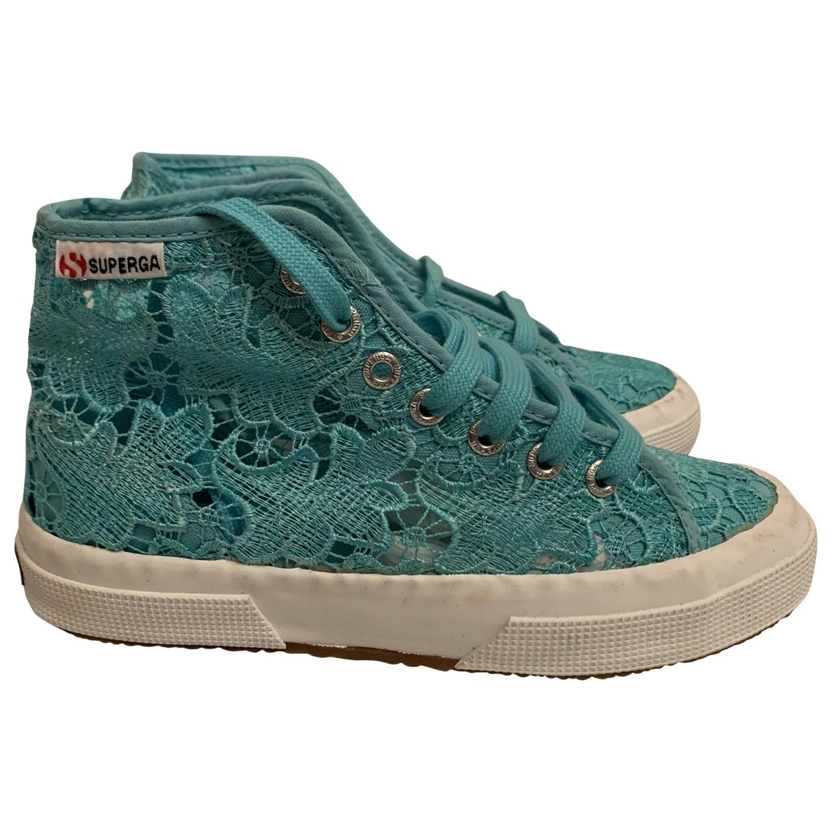 Superga \N Sneakers in  Blau Leinen