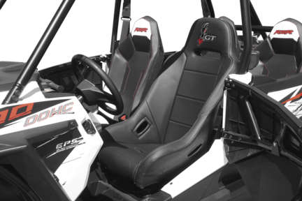 DragonFire 15-1102 Highback GT Seat Black Polaris RZR 900 XC 15-16