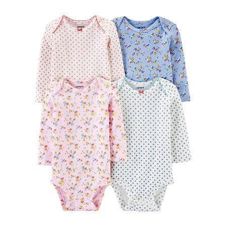 Carter's Little Baby Basic Baby Girls 4-pc. Bodysuit, 9 Months , Multiple Colors