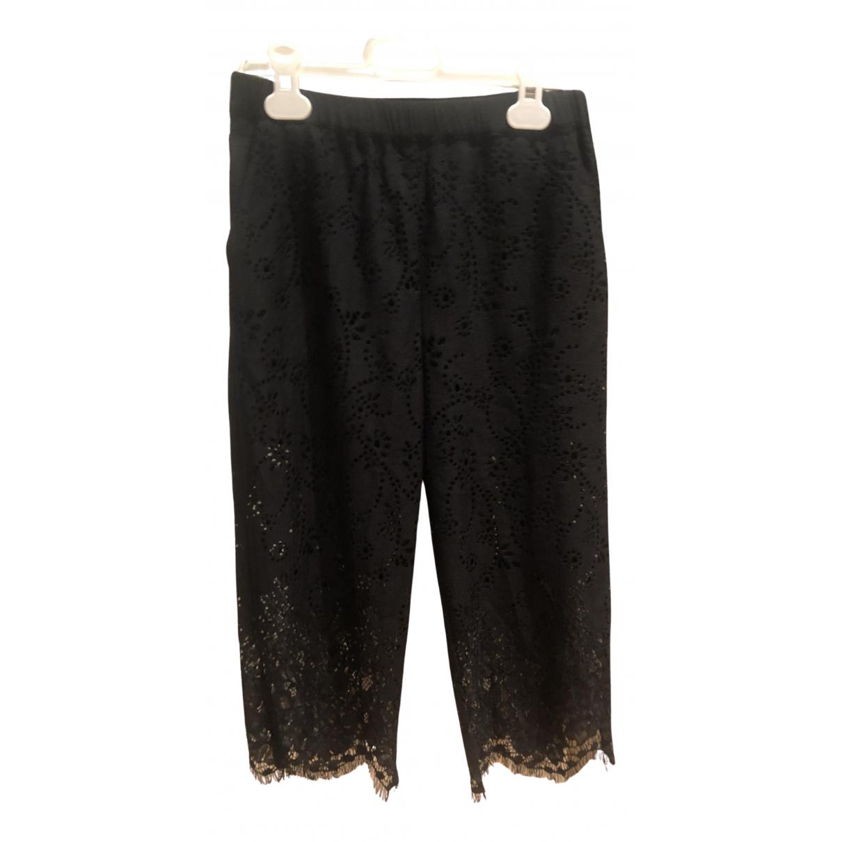Pantalones en Viscosa Negro Pinko