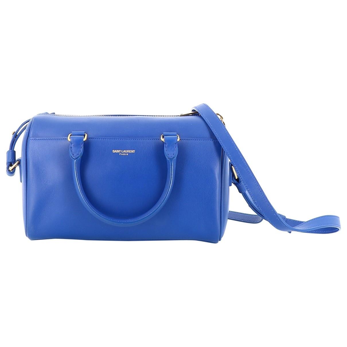 Saint Laurent Duffle Blue Leather handbag for Women \N