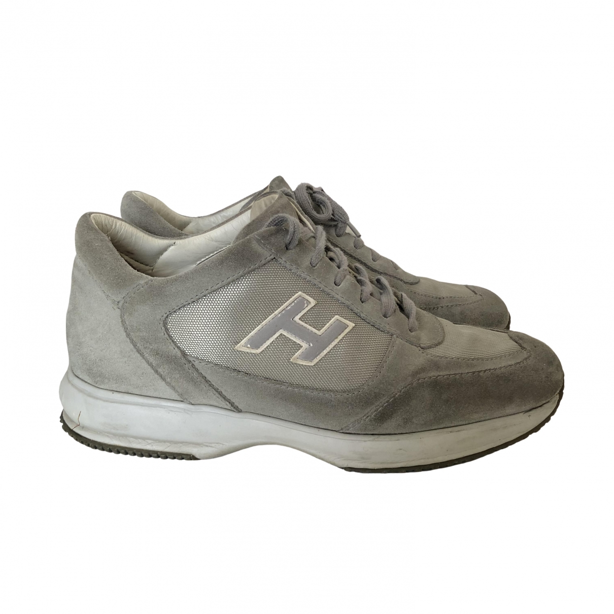 Hogan \N Sneakers in  Grau Leder
