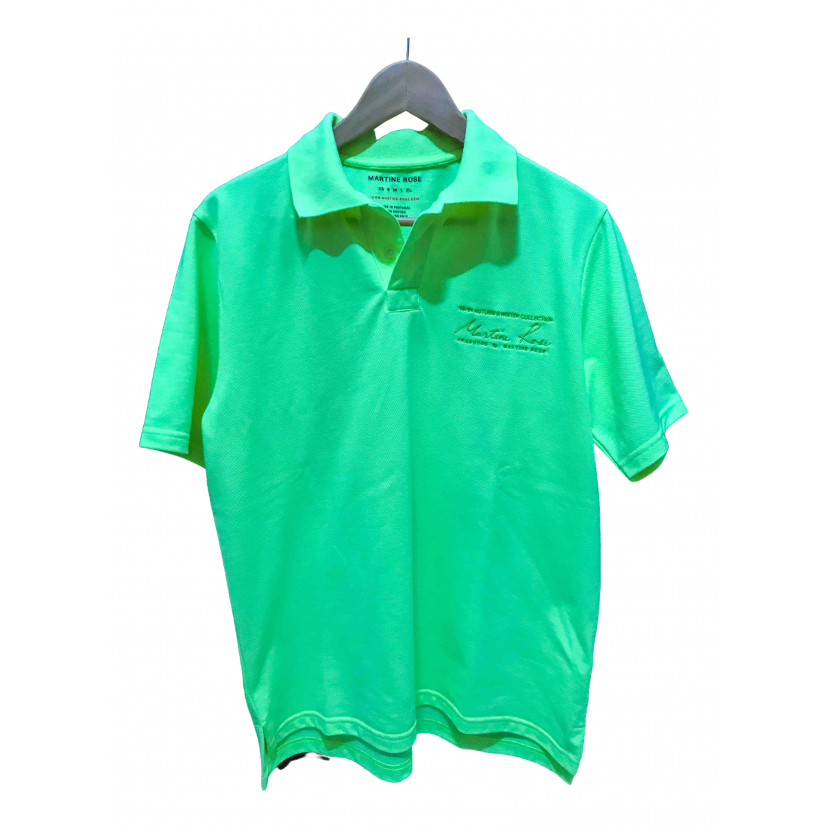 Martine Rose N Green Cotton Polo shirts for Men M International