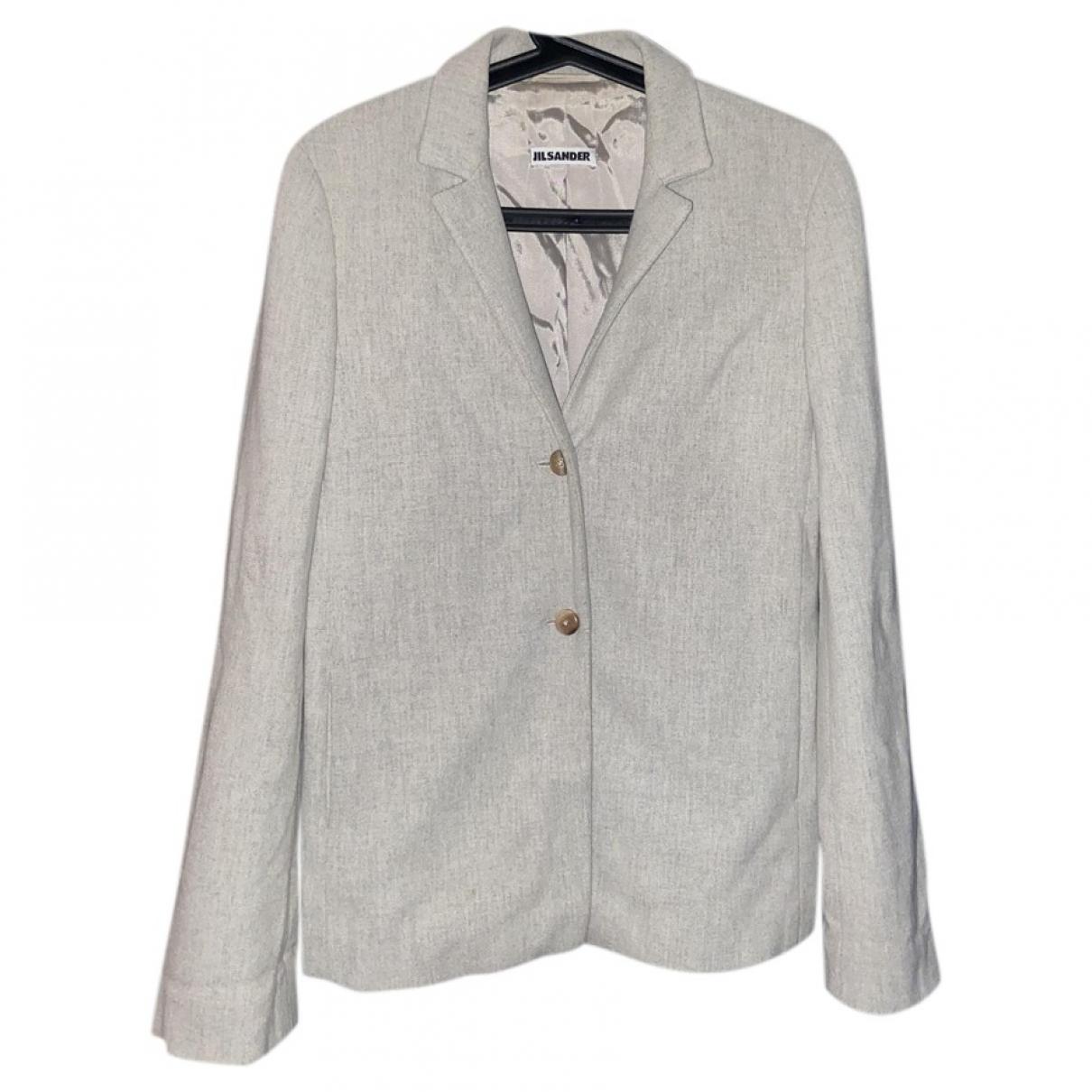Jil Sander N Grey Cashmere jacket for Women 36 IT