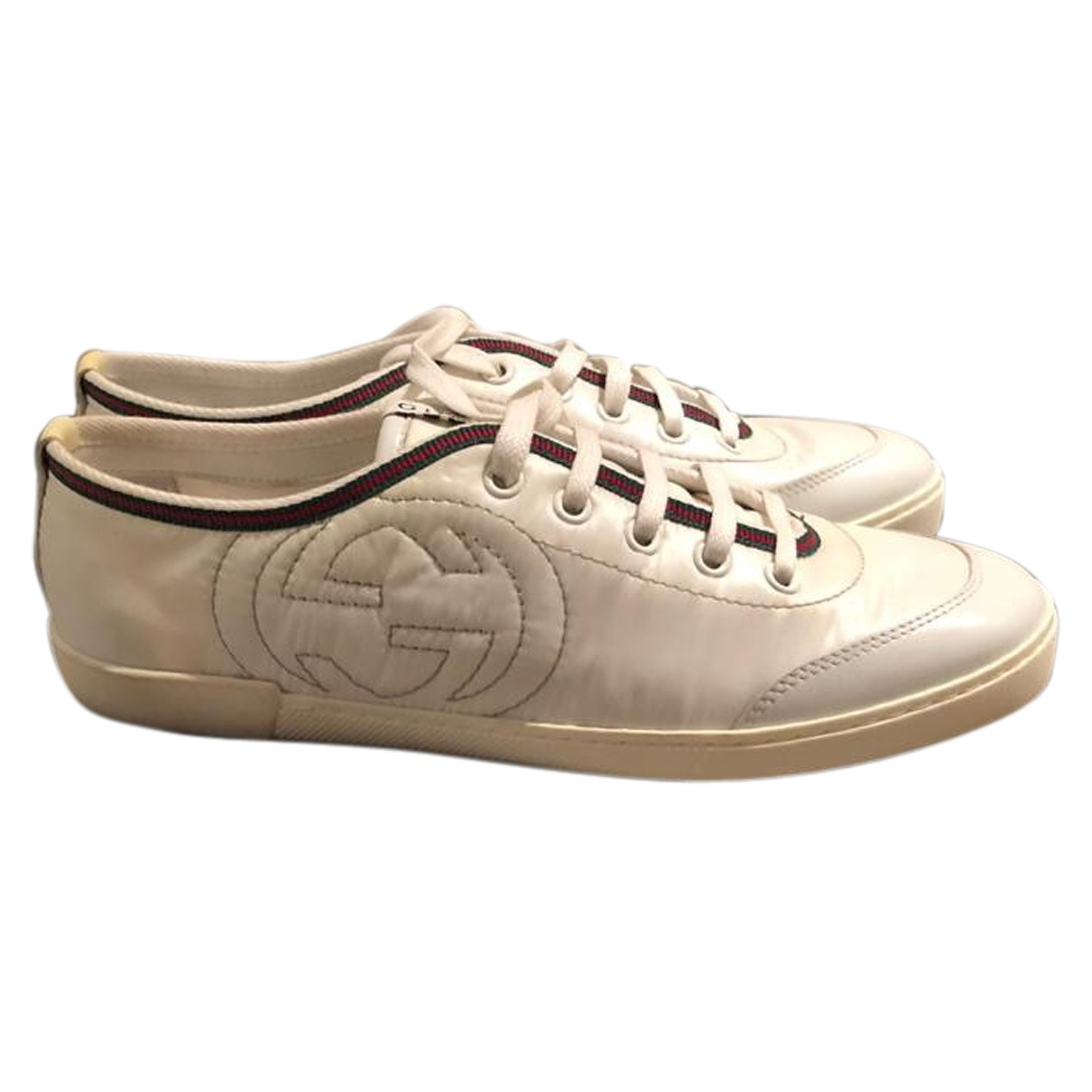 Gucci - Baskets   pour femme en toile - blanc