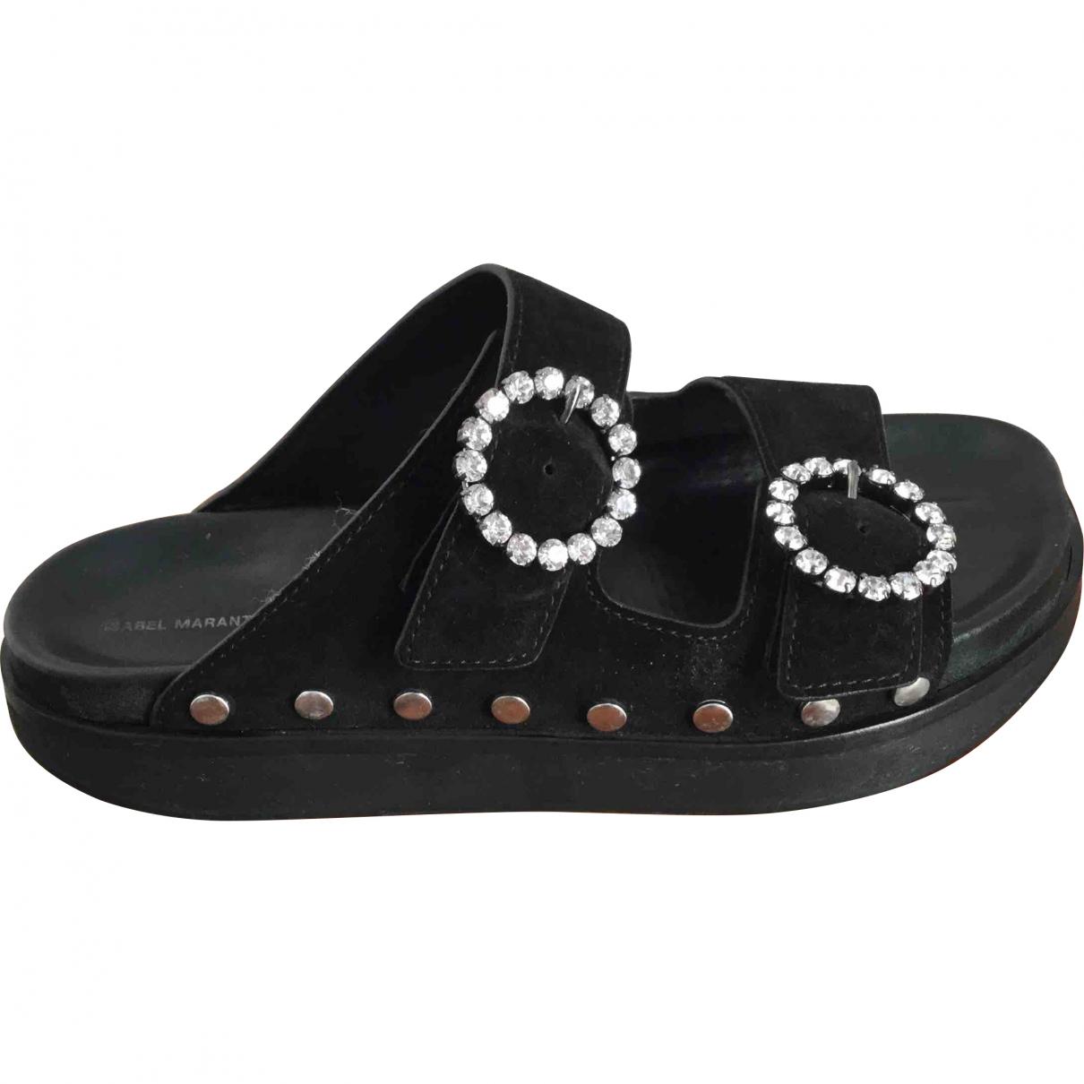 Isabel Marant \N Black Suede Sandals for Women 40 EU