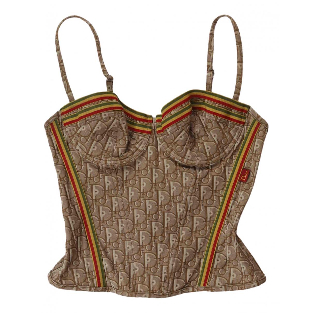 Dior - Top   pour femme en coton - marron