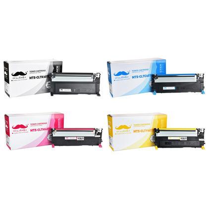 Samsung CLT-407S cartouche de toner compatible combo BK/C/M/Y - Moustache®