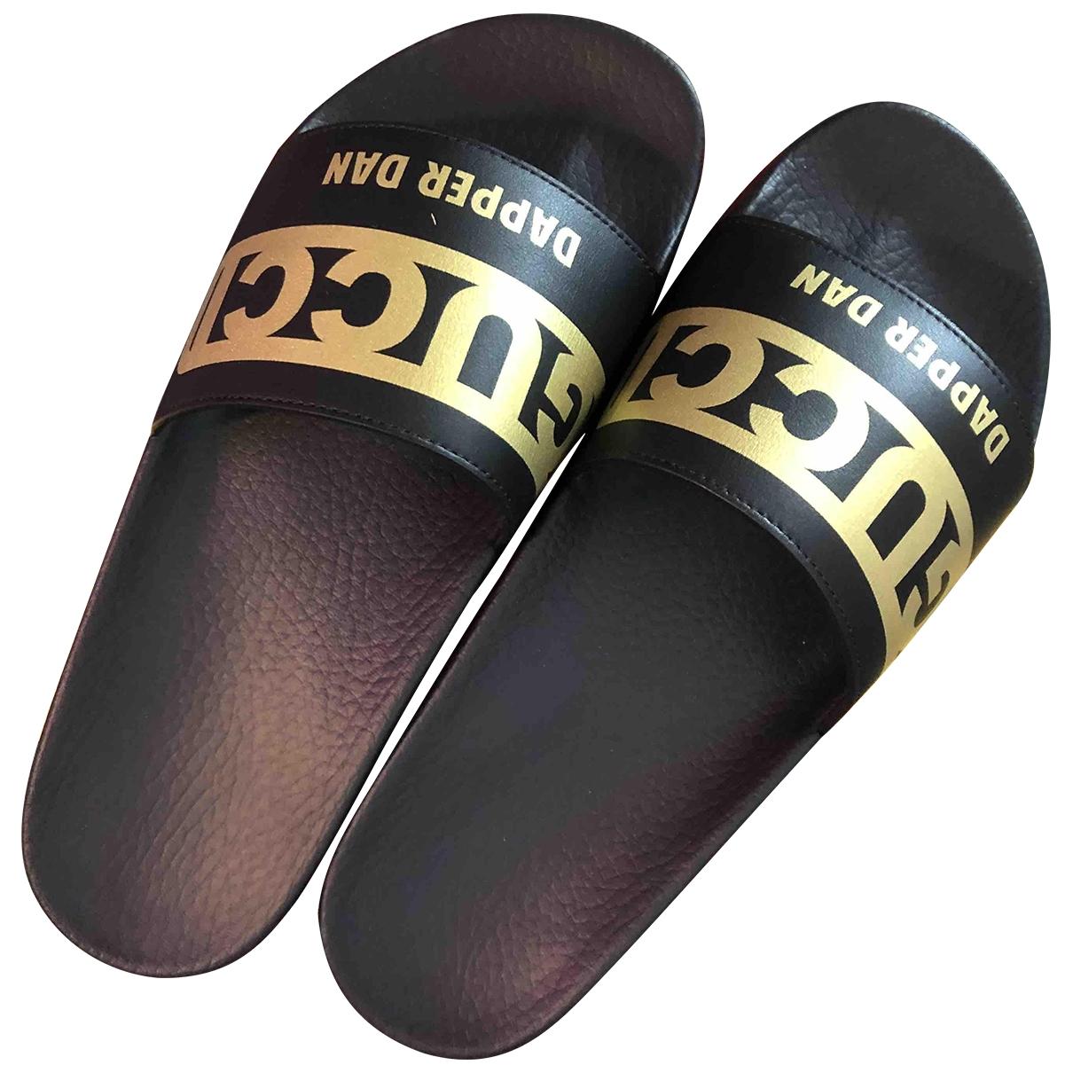 Gucci \N Black Rubber Sandals for Men 42 EU