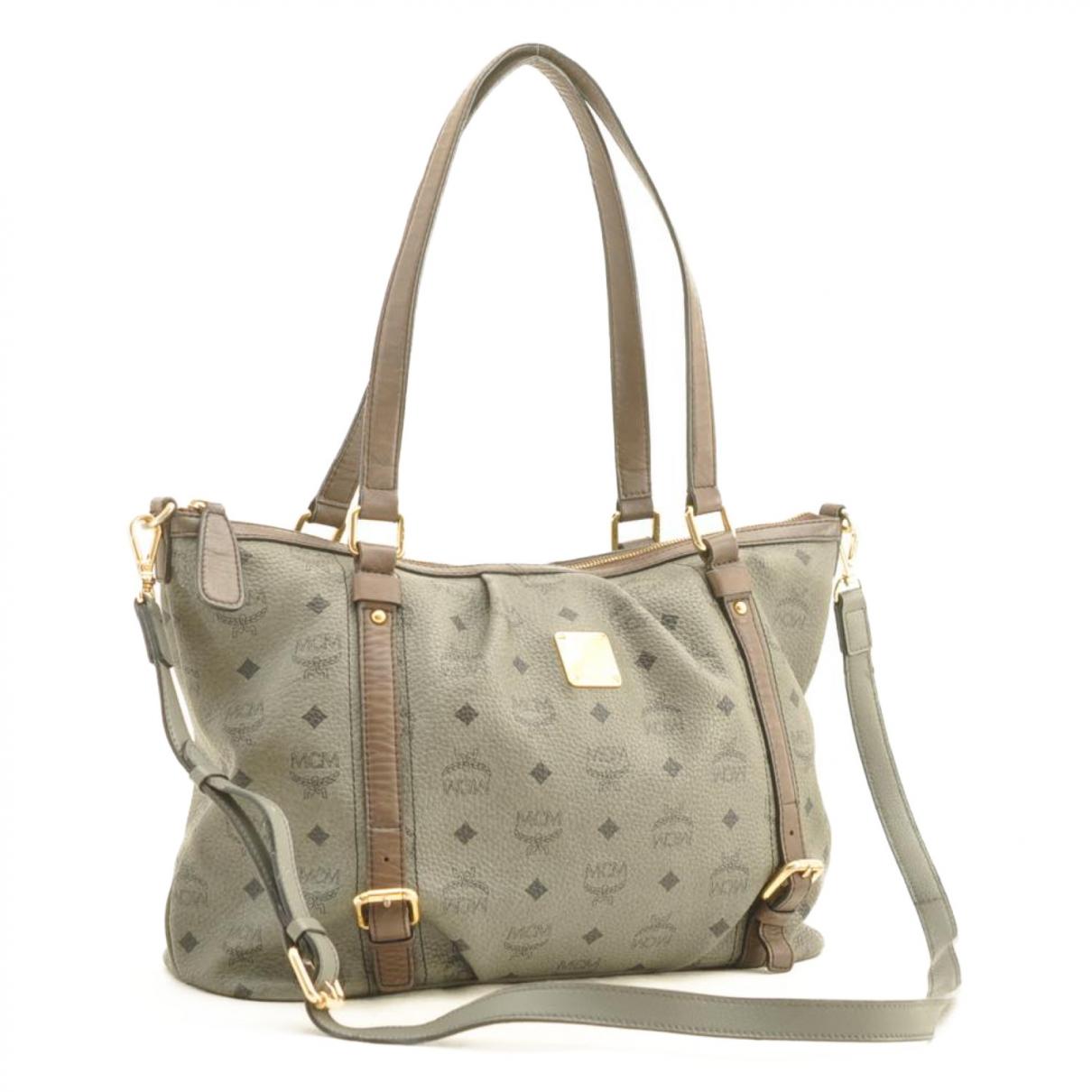 Mcm \N Grey Cloth handbag for Women \N