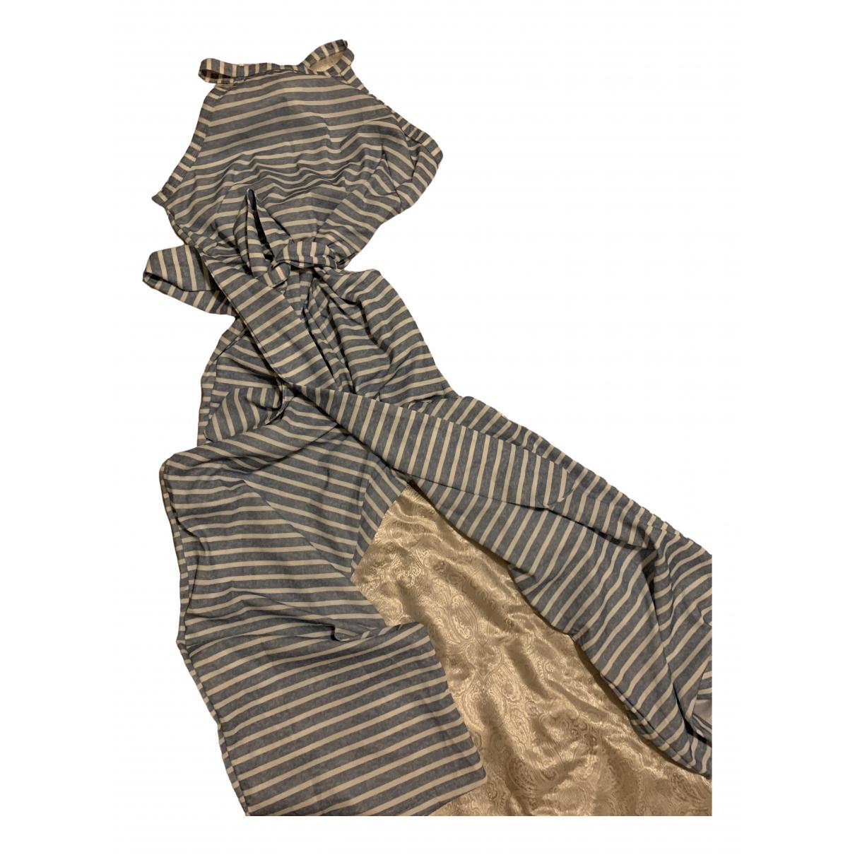 Massimo Dutti - Combinaison   pour femme en coton - bleu