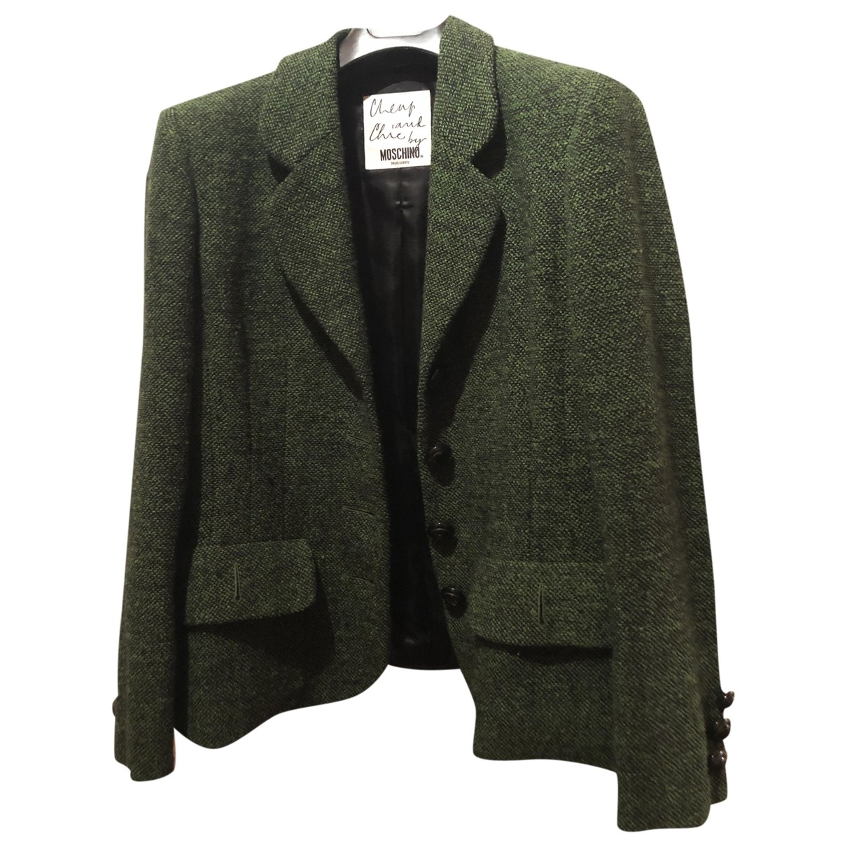 Moschino Cheap And Chic \N Green Wool  top for Women 44 IT