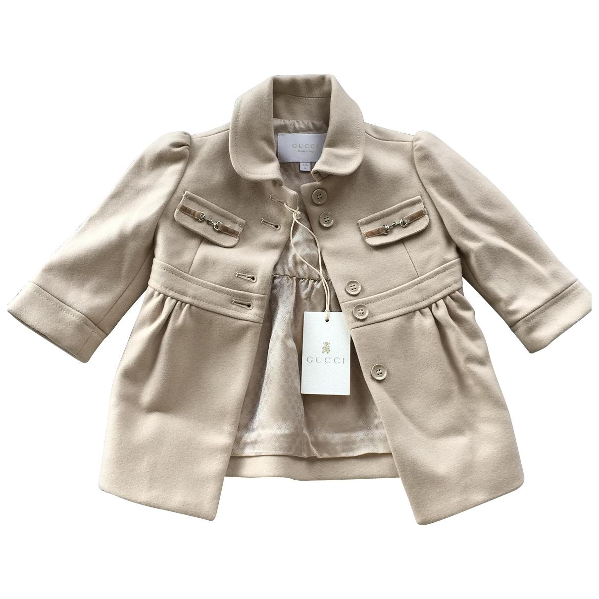 Gucci \N Beige Wool jacket & coat for Kids 3 months - up to 60cm FR