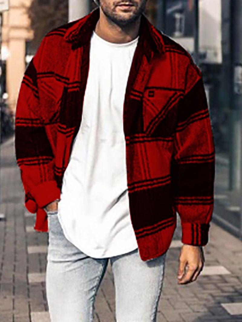 Ericdress Plaid Lapel Loose European Jacket