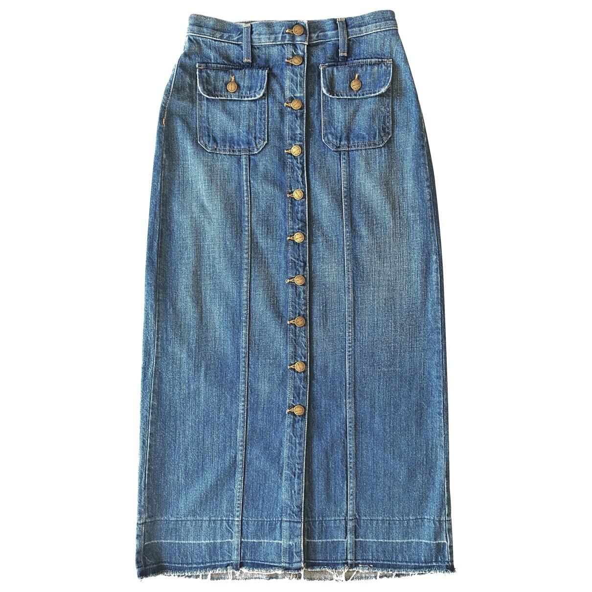 Current Elliott N Blue Cotton skirt for Women 38 FR