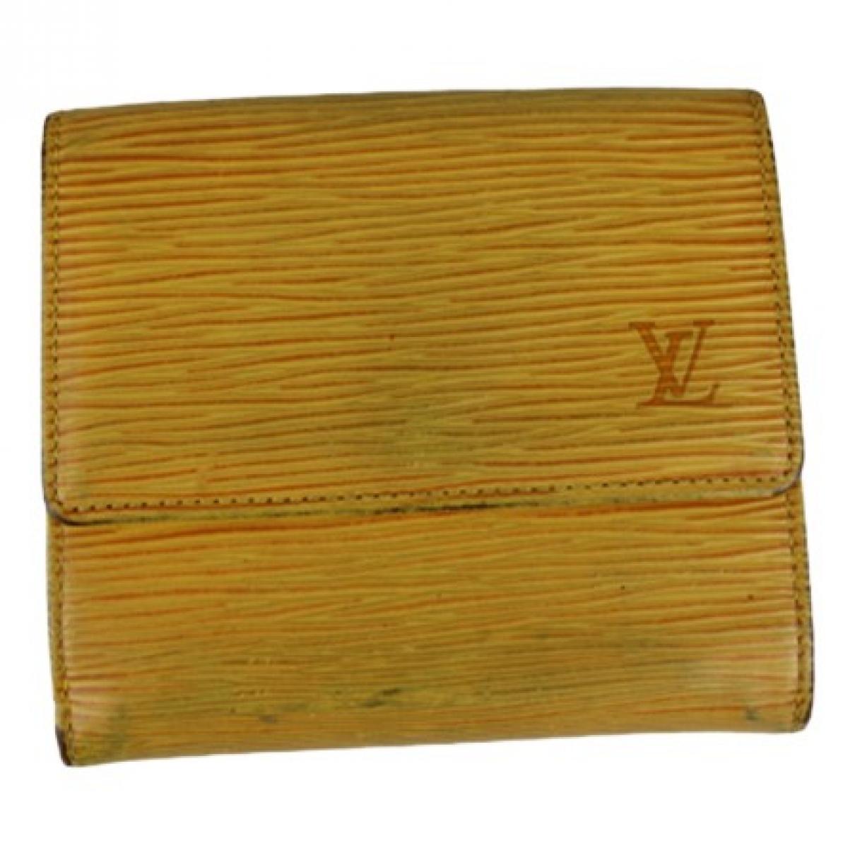 Louis Vuitton - Petite maroquinerie   pour femme en cuir - jaune
