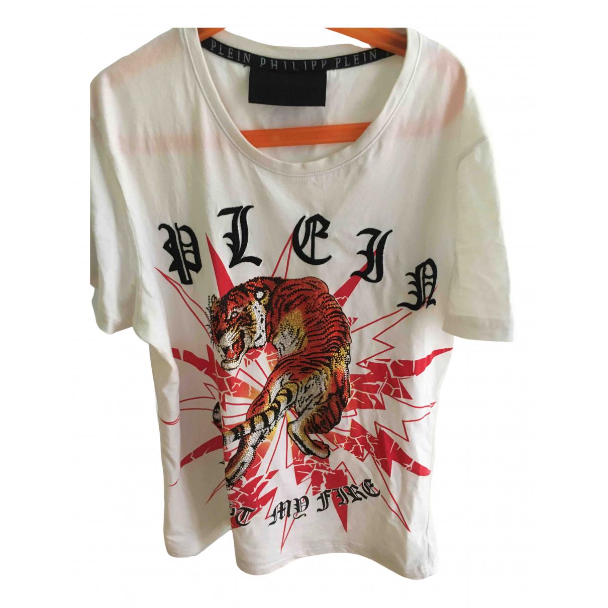 Philipp Plein \N White Cotton T-shirts for Men XS International