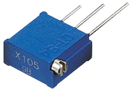 Copal Electronics 1kΩ, Through Hole Trimmer Potentiometer 0.5W