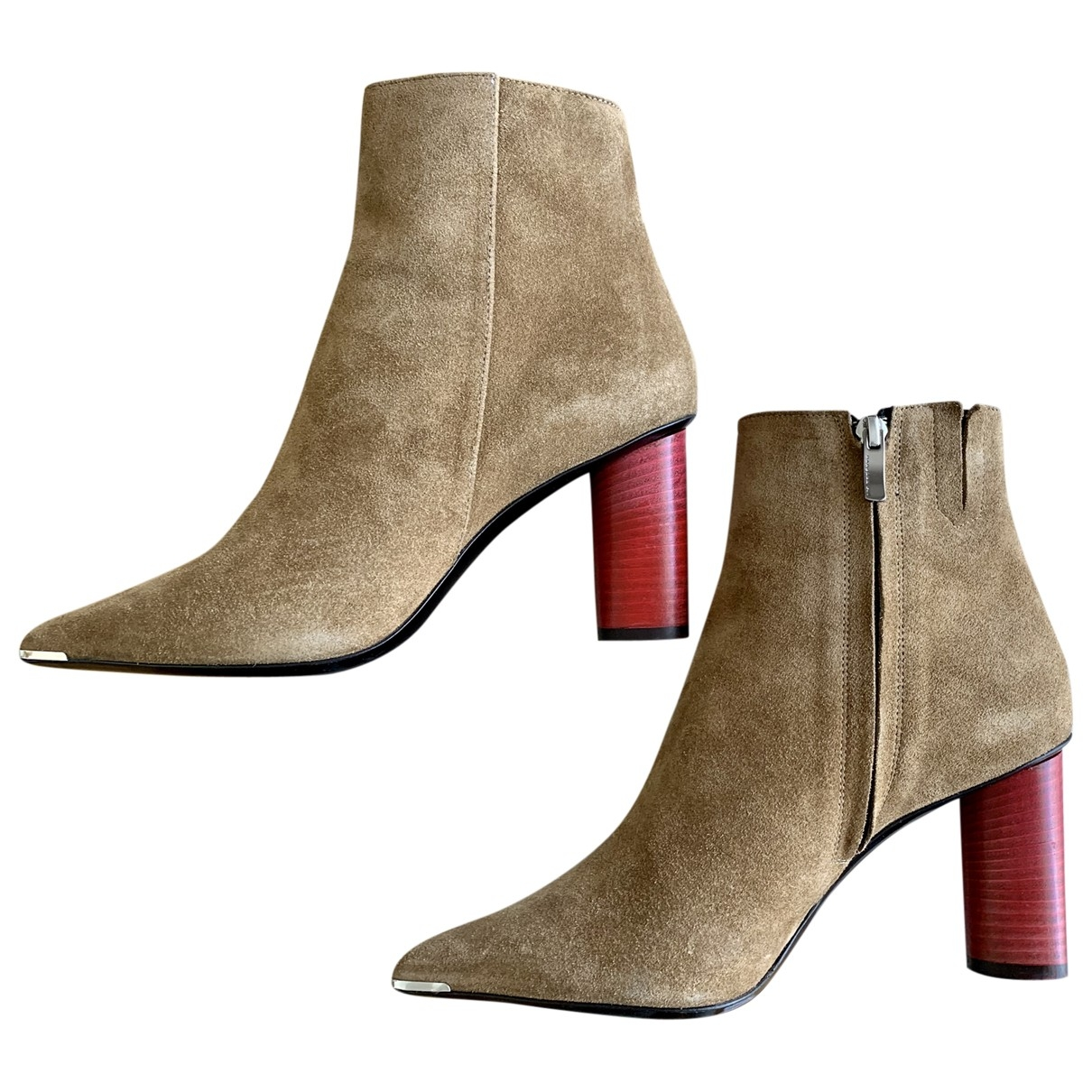Barbara Bui - Boots   pour femme en suede - beige