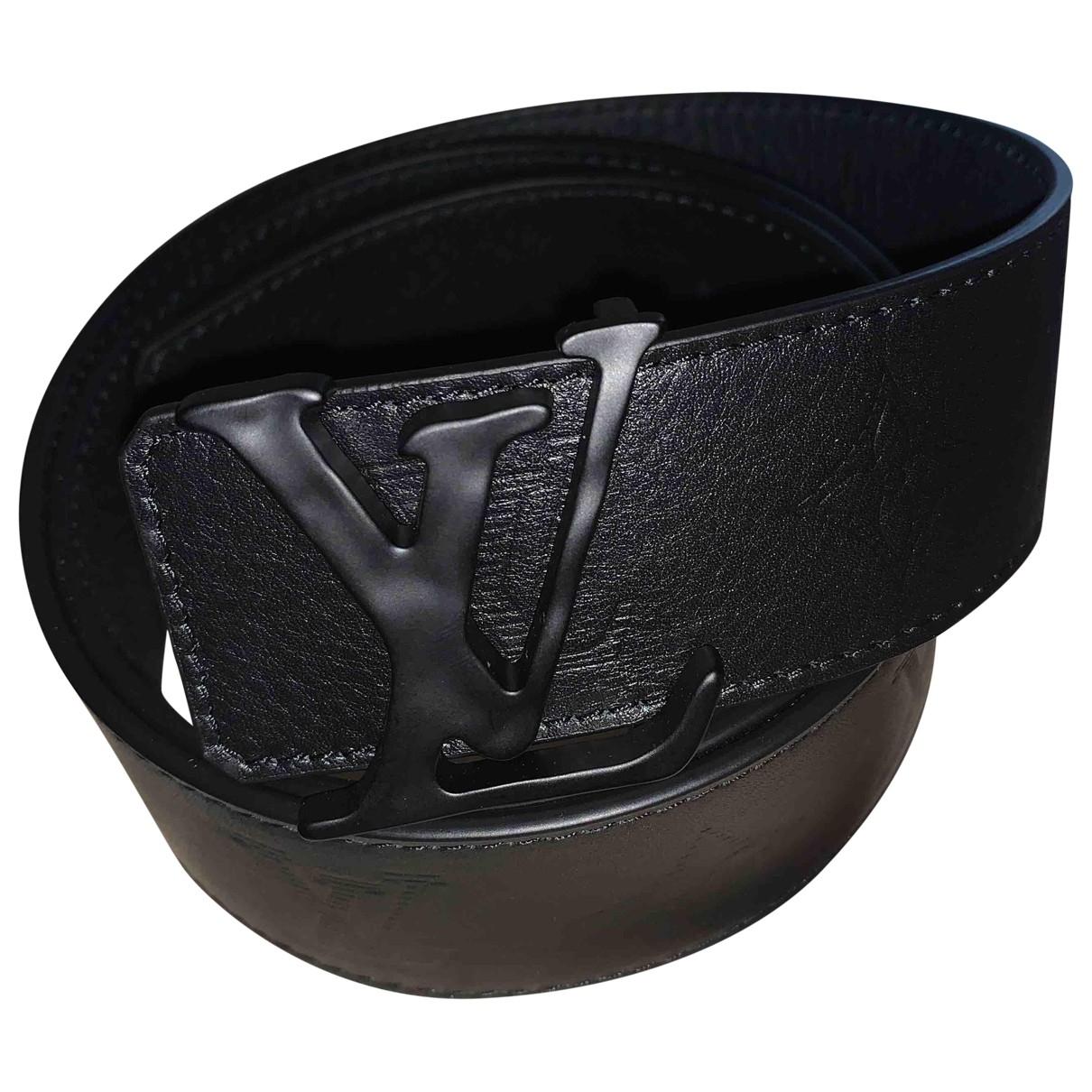 Louis Vuitton Shape Guertel in  Schwarz Leder