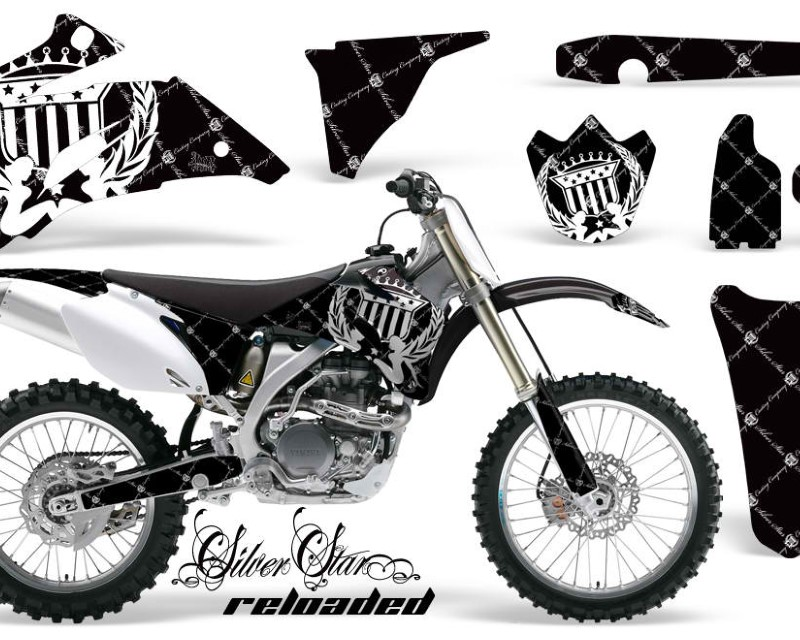 AMR Racing Dirt Bike Graphics Kit Decal Wrap For Yamaha YZ250F YZ450F 2006-2009áRELOADED WHITE BLACK