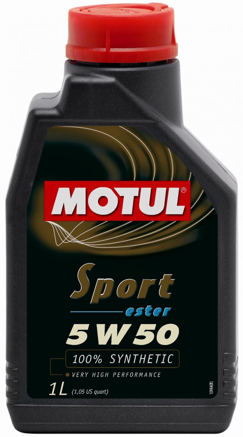 Motul SPORT 5W50 - 1L - Synthetic Engine Oil