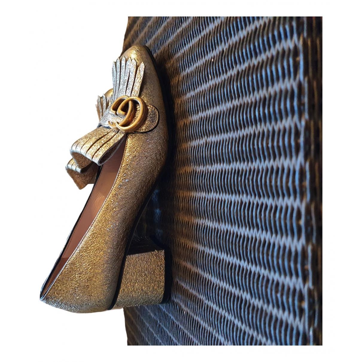 Gucci - Escarpins Marmont pour femme en cuir - dore