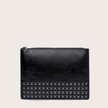 Studded Decor Clutch Bag