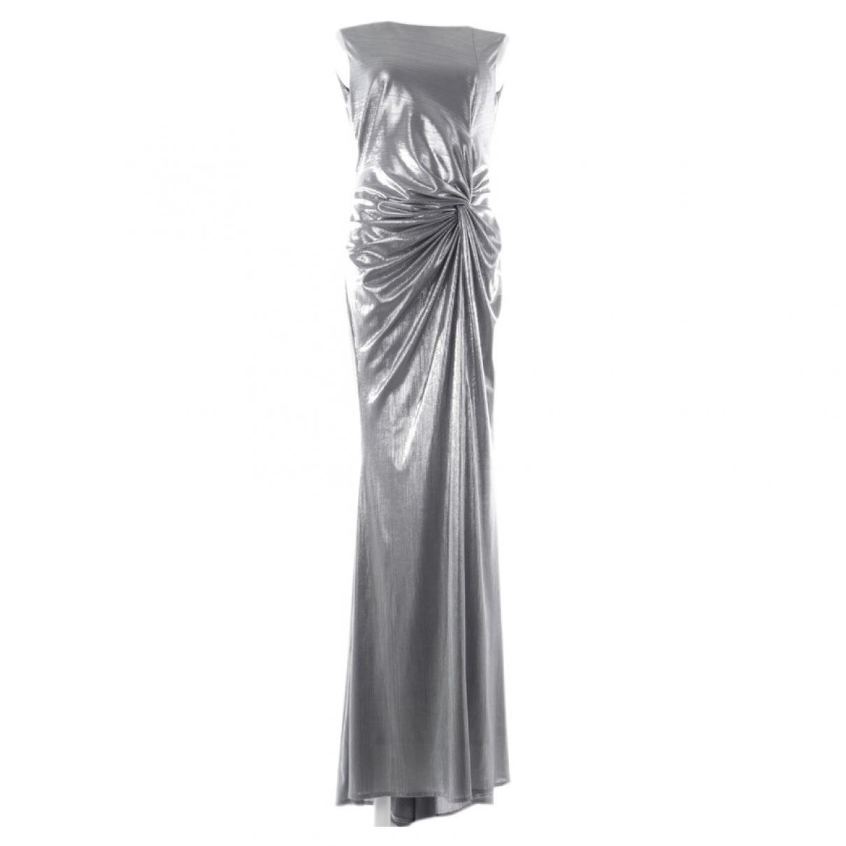 Talbot Runhof \N Kleid in  Metallic Synthetik