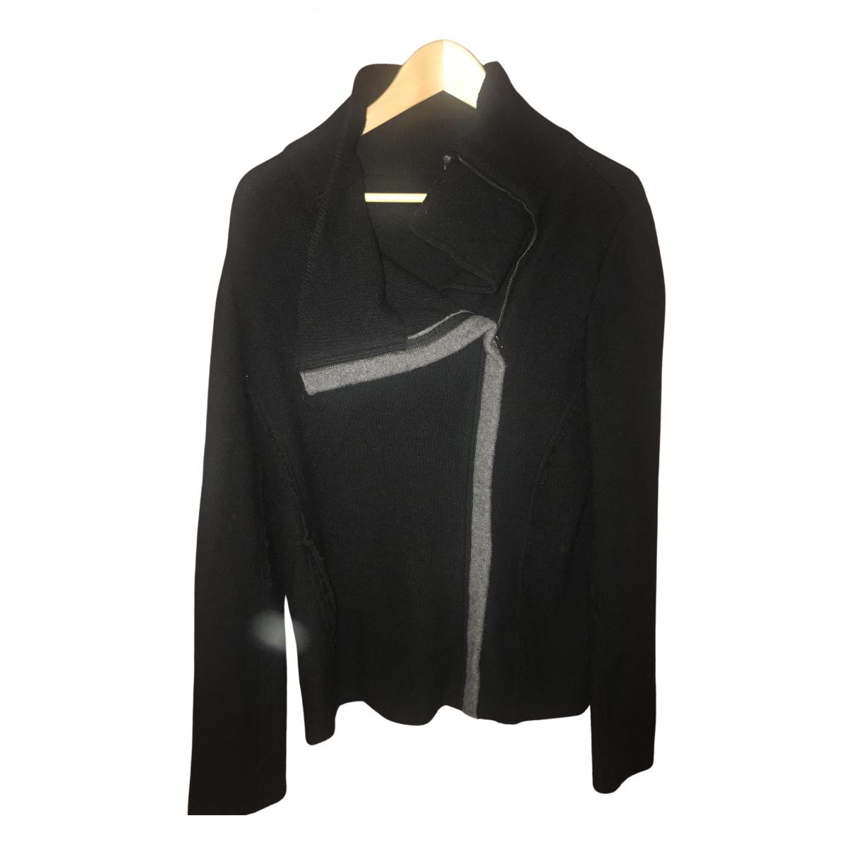Benetton - Veste   pour femme en laine - noir
