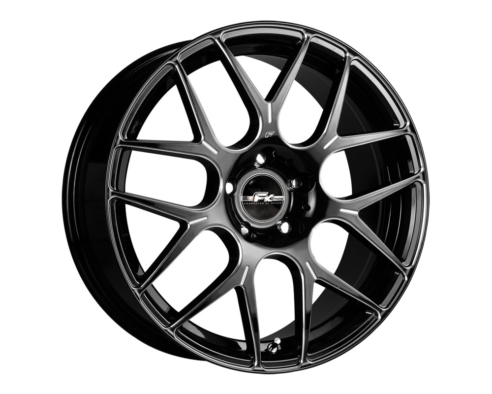 FK Ethos RT7M1560000 RT-7M Gloss Black Ball Cut Machined Wheel 15x6.5 4x100/114.3 40