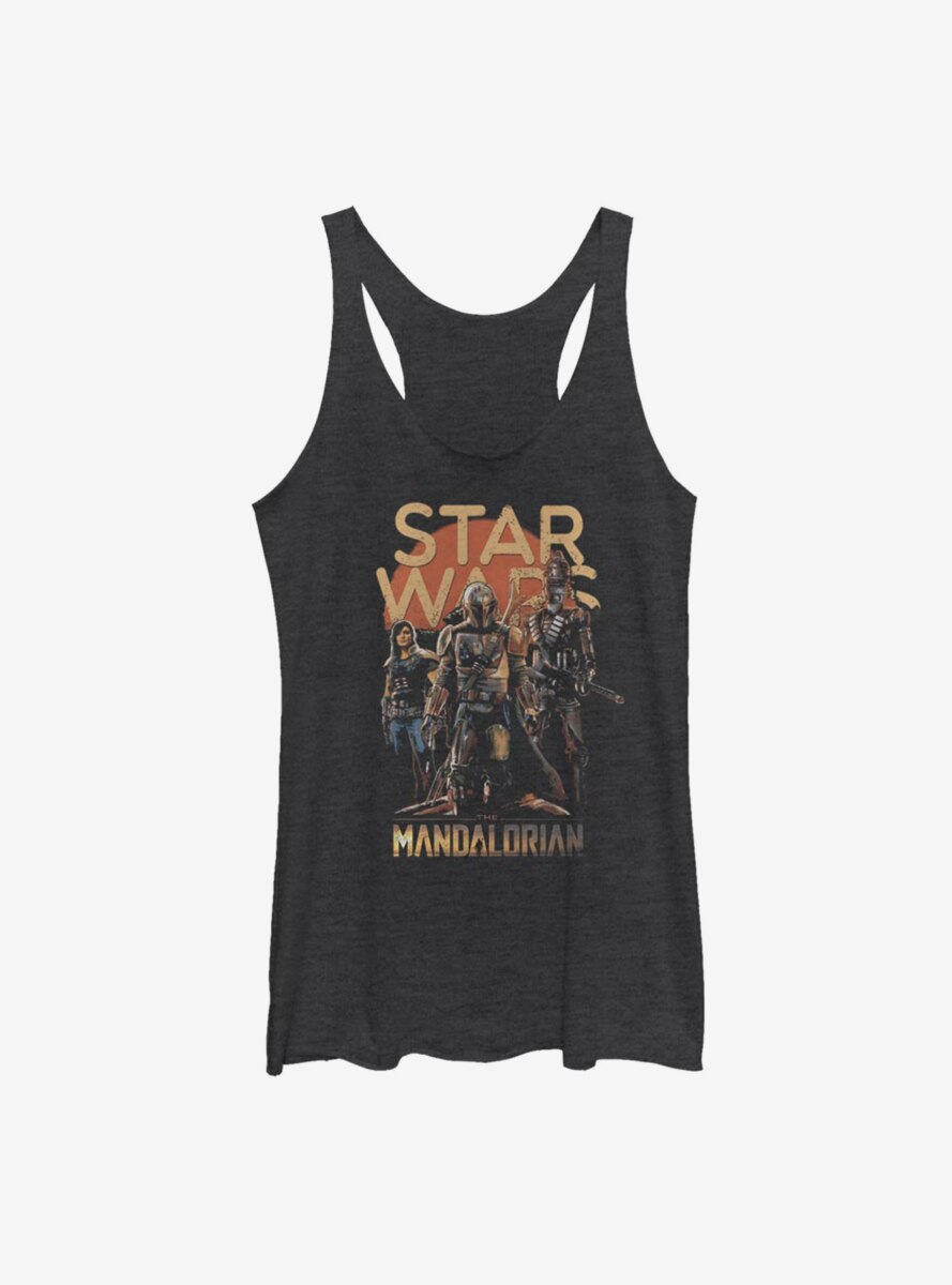 Star Wars The Mandalorian Character Pose Womens Tank Top