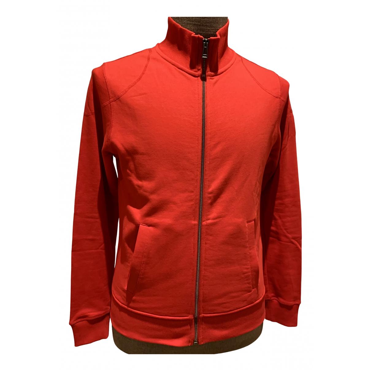 Belstaff \N Pullover.Westen.Sweatshirts  in  Rot Baumwolle