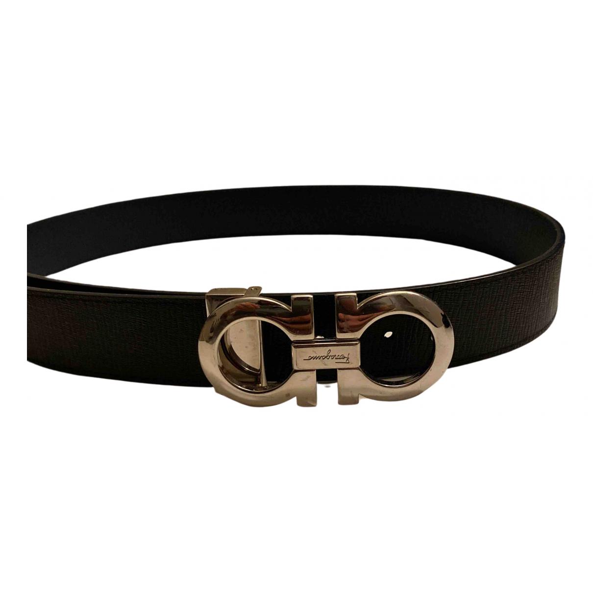 Salvatore Ferragamo N Black Leather belt for Men 100 cm