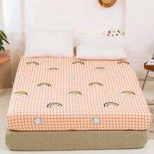 Bettuch mit Karo Muster