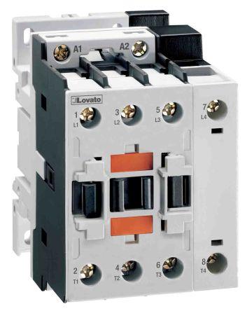 Lovato 4 Pole Contactor - 45 A, 400 V ac Coil, 4NO, 13 kW