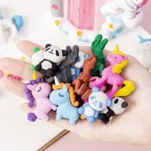 5pcs Random Animal Shaped Eraser