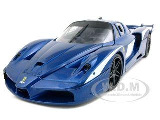 Ferrari FXX Evoluzione Blue 1/18 Diecast Car Model by Hotwheels