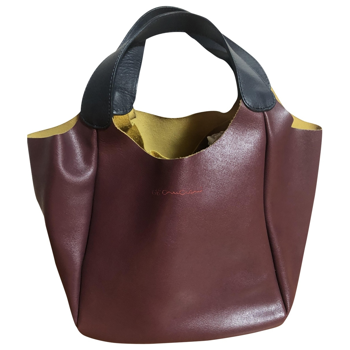 Cruciani \N Burgundy Leather handbag for Women \N