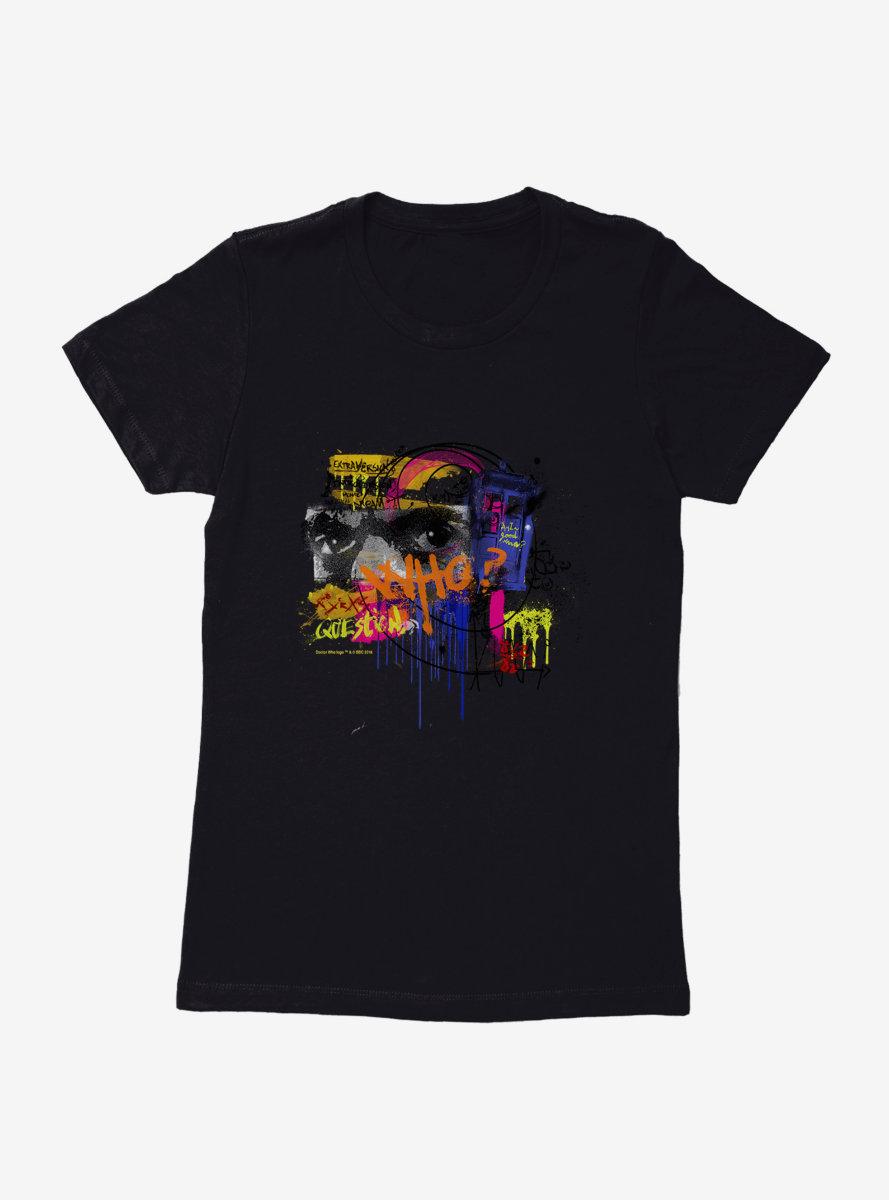 Doctor Who Twelfth Doctor TARDIS Graffiti Womens T-Shirt