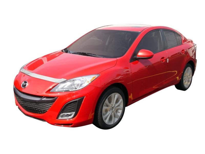 AVS 620012 Aeroskin Low Profile Hood Shield - Chrome Mazda 3 (Grille Fascia Mount) 2010-2013