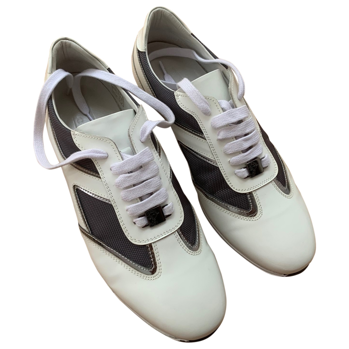 Versace - Baskets   pour femme en cuir - blanc