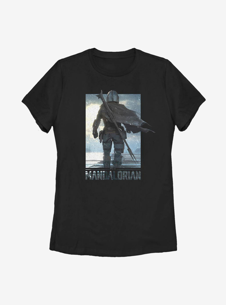 Star Wars The Mandalorian The Child Poster Mando Womens T-Shirt