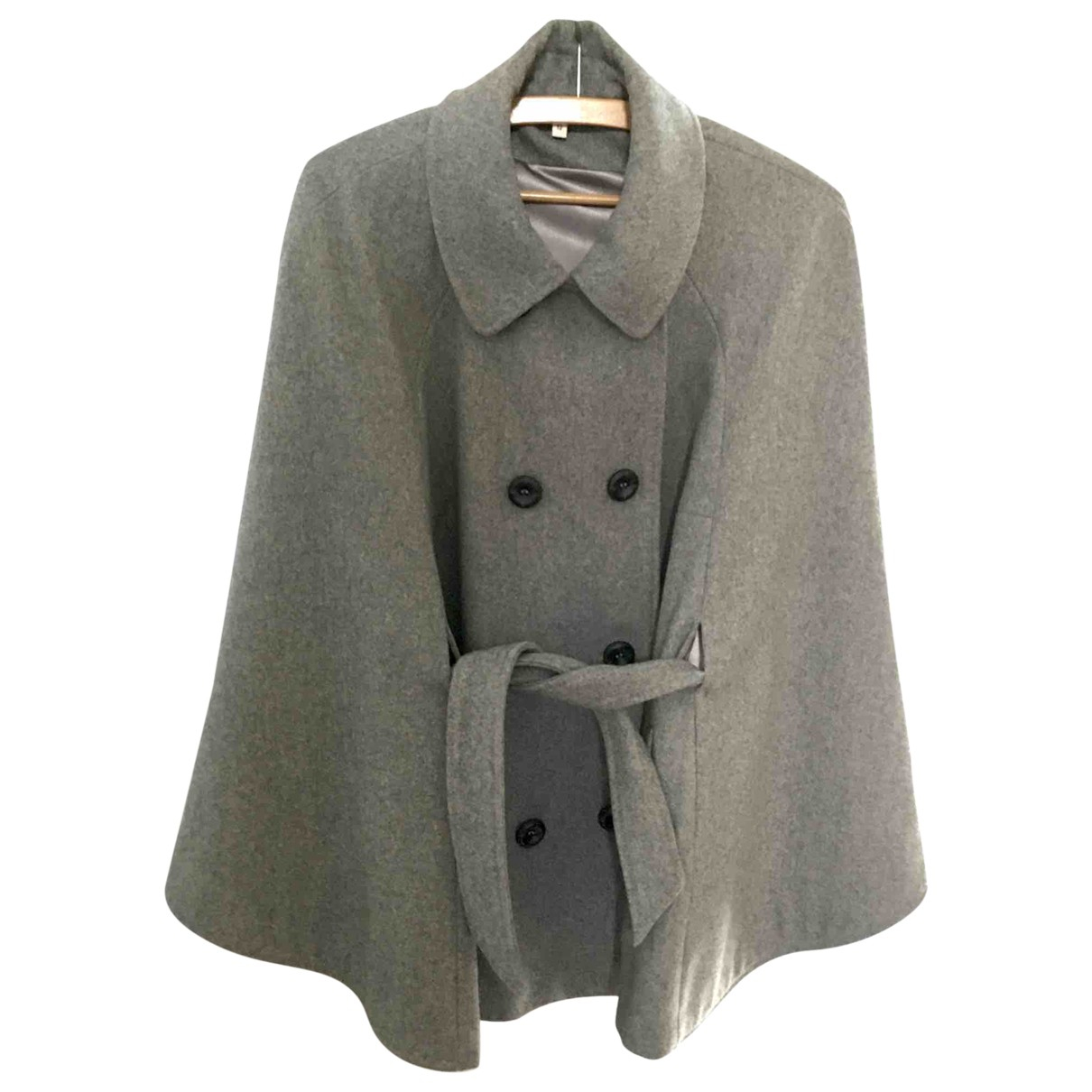 Non Signé / Unsigned \N Grey Wool jacket for Women 12 UK
