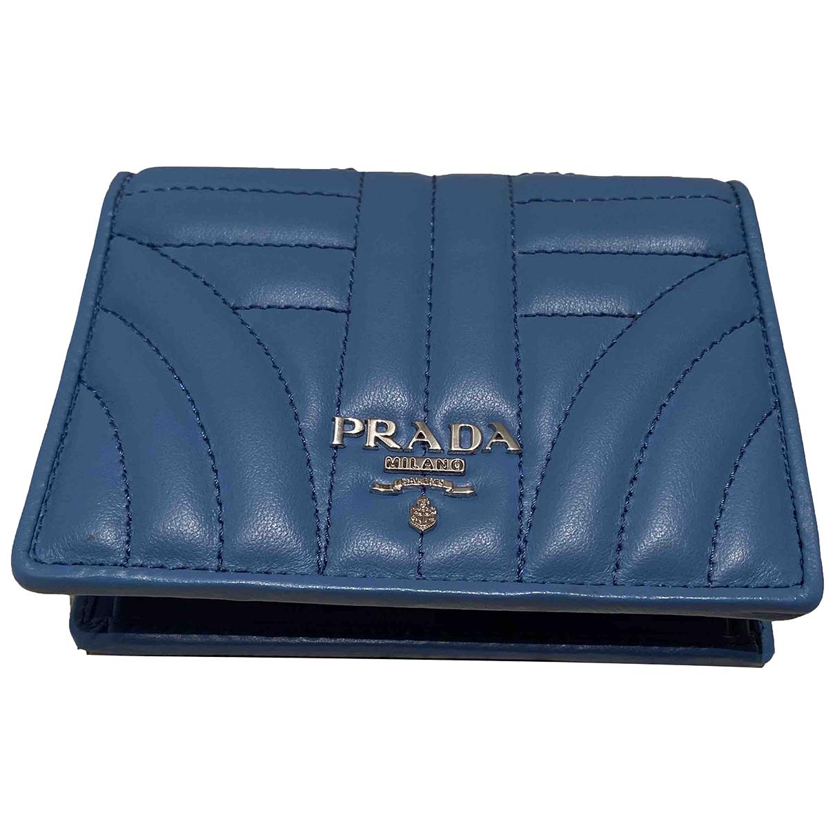 Prada \N Turquoise Leather wallet for Women \N