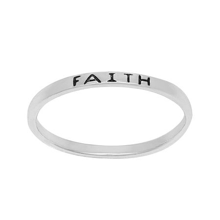 itsy bitsy Sterling Silver Faith Band Ring, 4 , No Color Family