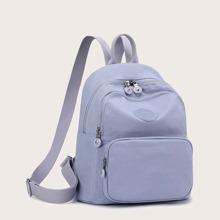 Pocket Front Curved Top Backpack