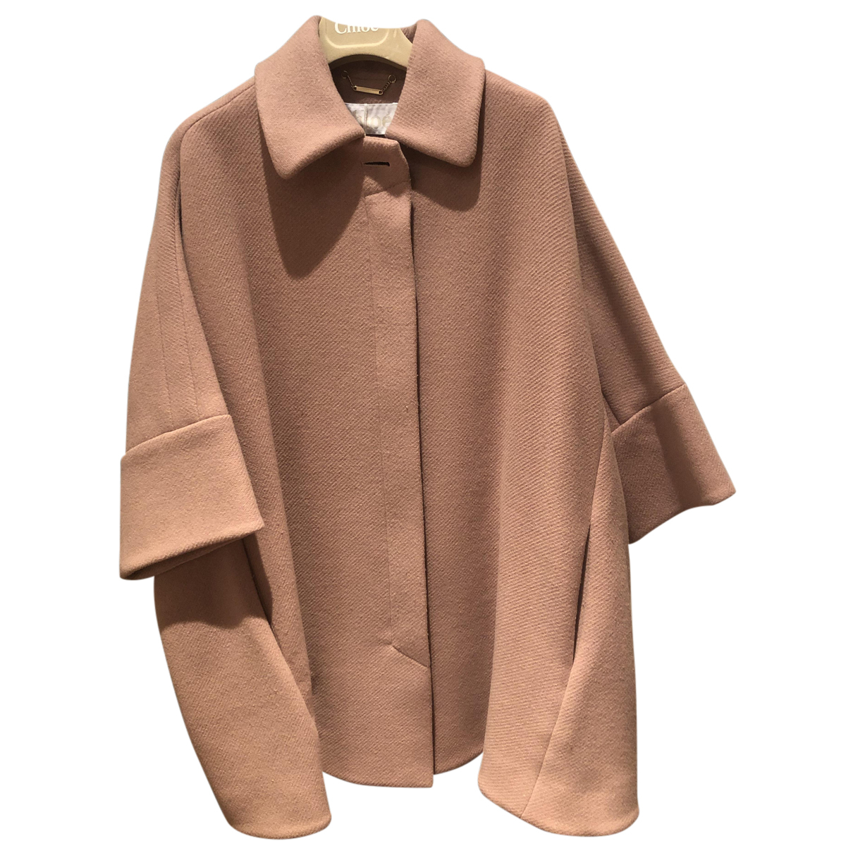 Chloé N Camel Wool coat for Women 36 FR