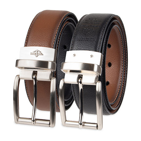 Dockers Stretch Reversible Casual Men's Belt with Metal Keeper, Small , Brown